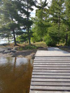 Dock ramp low water